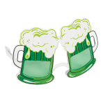 Green Beer Fun Glasses - Size Adult - 4 PC