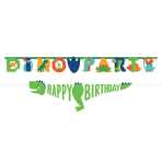 Dino-Mite Party Jumbo Personalised Letter Banner Kits - 6 PKG/2