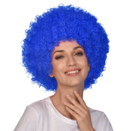 Blue Afro Wigs - 6 PC
