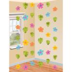 Hawaiian Hibiscus Strings Decorations - 12 PKG/6