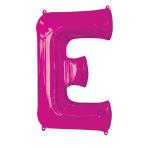 """Letter E Pink SuperShape Foil Balloons 34""""/""""86cm P50 - 5 PC"""