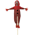 Scary Clown Garden Stakes 45cm x 1.2m - 6 PC