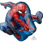 """Spider-Man SuperShape Foil Balloons 17""""/43cm w x 29""""/73cm h P38 - 5 PC"""