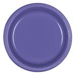 New Purple Plastic Plates 18cm - 10 PKG/10