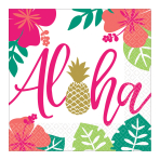 Aloha Luncheon Napkins 33cm - 12 PKG/16