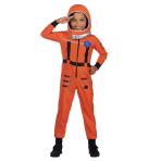 Space Suit Orange Costume - Age 10-12 Years - 1 PC
