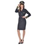 Captain Lady Costume - Size 10-12 - 1 PC