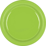 Kiwi Green Plastic Plates - 17.7cm - 10 PKG/20