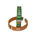 Ireland Flag Fabric Bracelets One size fits most - 12 PKG /2
