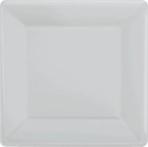 Silver Square Paper Plates 18cm - 6 PKG/20