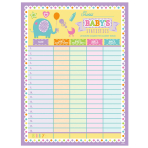 Baby Shower Baby's Statistics Games - 12 PC