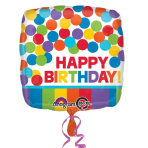 Primary Rainbow Happy Birthday Standard Foil Balloons S40 - 5 PC