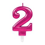 Pink Metallic Finish Candles #2 - 12 PC