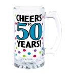 50th Glass Tankards 443ml - 4 PC