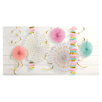 Pastel Paper and Foil Decorating Kits - 6 PC