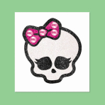 Monster High Skullette Body Jewellery Tattoos - 12 PC