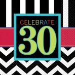 Celebrate 30th Luncheon Napkins 33cm - 12 PKG/16