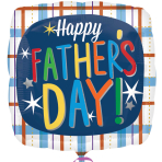 Happy Father's Day Plaid Standard Foil Balloons S60 - 5 PC