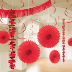 Apple Red Room Decoration Kits - 6 PKG/18