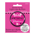 Birthday Princess Flashing Badges 5.7cm - 6 PC