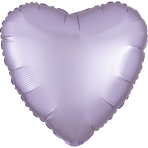 Pastel Lilac Heart Satin Luxe Standard HX Packaged Foil Balloons S15 - 5 PC
