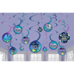 Battle Royal Swirl Decorations - 12 PKG/12