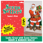 Santa's Visit Scene Setters Decorations 1.65m x 85cm - 12 PC
