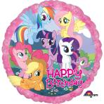 My Little Pony Happy Birthday Standard Foil Balloons S60 - 5 PC