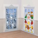Frosted Windows Scene Setters Decorations 1.65m x 85cm - 12 PKG/2