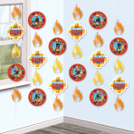 Fireman Sam String Decorations 2m - 6 PKG/6