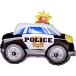 On the Road Police Car Standard Shape Standard Foil Balloons S40 - 5 PC