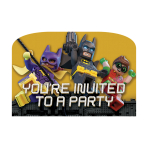 LEGO Batman Movie Postcard Invitations - 6 PKG/8