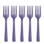 New Purple Heavy Weight Plastic Forks - 12 PKG/48