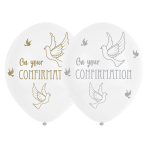 "Confirmation Dove Latex Balloons 11""/28"" - 6 PKG/6"