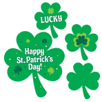 St. Patrick's Printed Value Pack Cut-outs 12.7cm, 17.7cm, 22.8cm, 30.4cm - 12 PKG/30