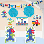 All Aboard Birthday Room Decorating Kits - 12 PKG