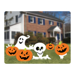 Pumpkins & Ghosts Garden Corrugate Signs - 6 PKG/6