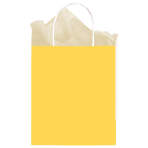 Sunshine Yellow Paper Gift Bags 25cm x 20cm x 10cm - 12 PC