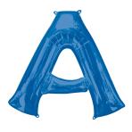 """Letter A Blue SuperShape Foil Balloons 34""""/""""86cm P50 - 5 PC"""
