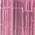 New Pink Door Curtain 91cm x 2.43m - 6 PC