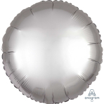 Platinum Circle Satin Luxe Standard HX Packaged Foil Balloons S15 - 5 PC