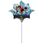 The Incredibles 2 Mini Shape Foil Balloons A30 - 5 PC