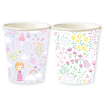 Fairy Princess Mixed Paper Cups 250ml - 6 PKG/8
