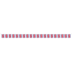 Red White & Blue Large GB Fabric Flag Bunting 10m - 6 PC