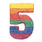 Numbers 5 Pinatas - 4 PC