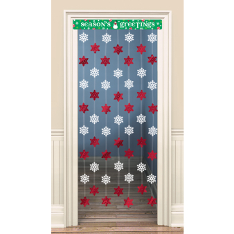 Christmas Door Curtains 1.2m x 86.3cm - 6 PC