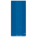 Royal Blue Small Plastic Party Bags 24cm h x 10cm w - 12 PKG/25