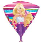 """Diamondz Barbie Foil Balloons 15""""/38cm w x 17""""/43cm h - G40 5PC"""
