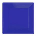 Bright Royal Blue Square Paper Plates 25cm - 6 PKG/20