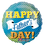 Father's Day Dots & Banner Standard Foil Balloons S40 - 5 PC